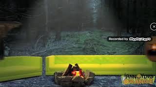 Annoying orange screen (left) attack flying honey badger