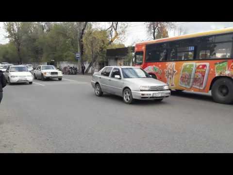 ДТП с двумя автобусами в Красноярске
