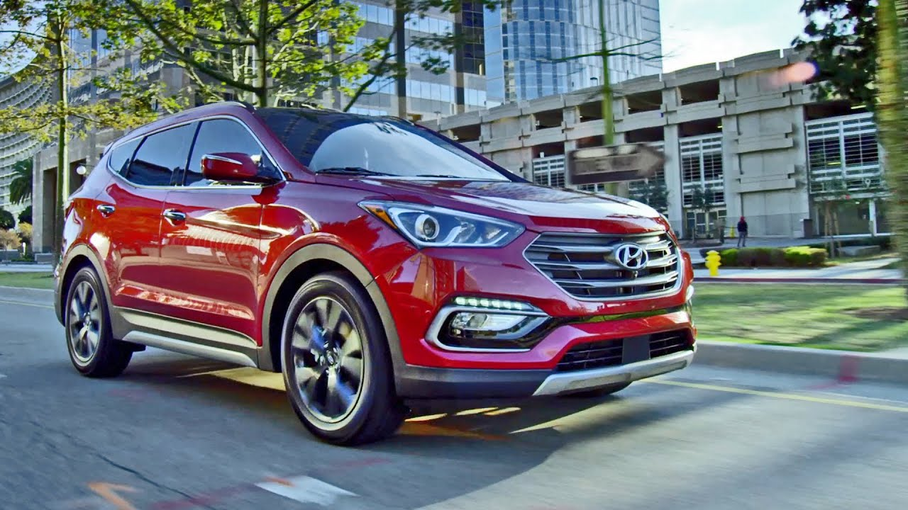 2017 hyundai santa fe and santa fe sport footage youtube. Black Bedroom Furniture Sets. Home Design Ideas