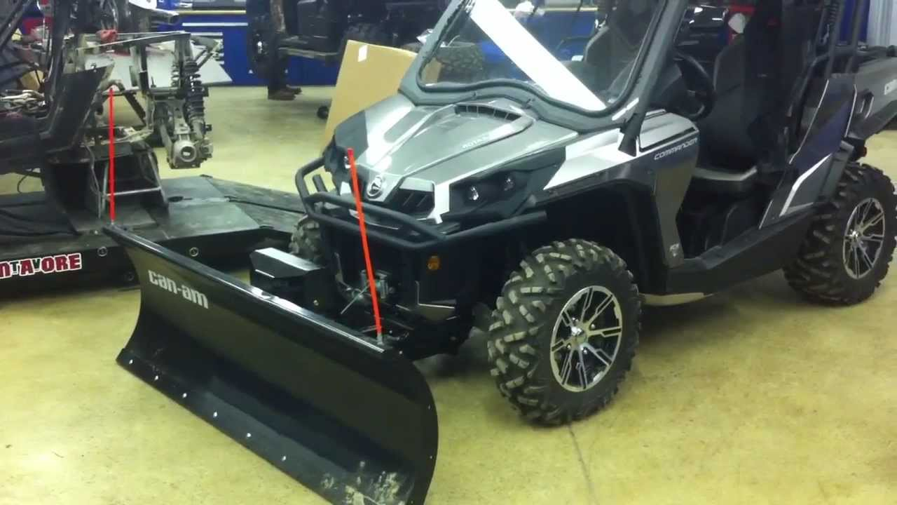 2012 Can Am Commander Ltd With Hydrolic Plow Angle And Dot