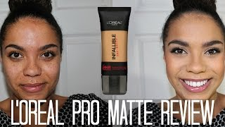 One of Samantha Jane's most viewed videos: L'Oreal Pro Matte Foundation: Oily Skin Diaries | samantha jane