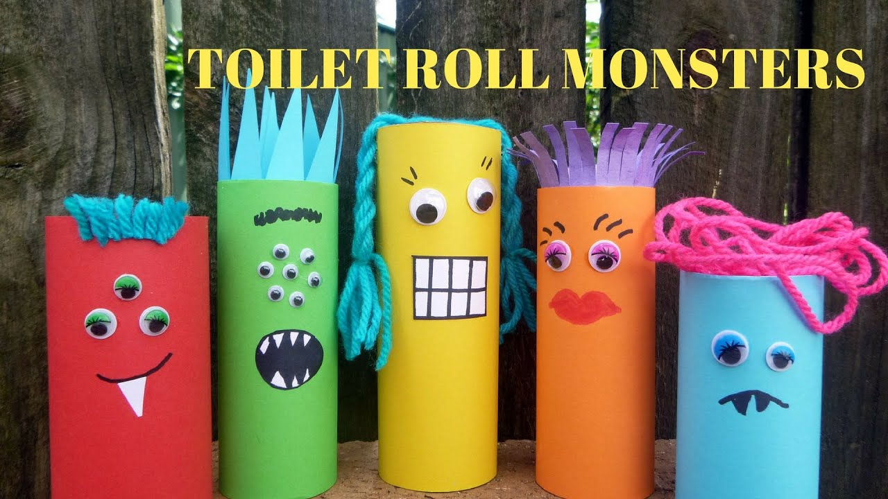 How to make a toilet paper roll monster toilet paper roll crafts how to make a toilet paper roll monster toilet paper roll crafts youtube jeuxipadfo Choice Image