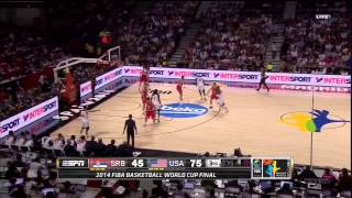 vuclip USA vs. Serbia highlights - 9-14-14 World Cup Final FIBA 2014