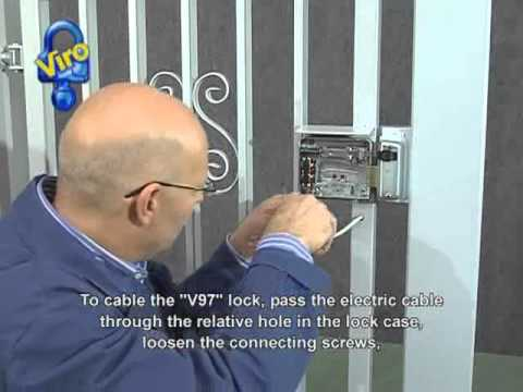 hqdefault electric lock viro v97 installation youtube electric rim lock wiring diagram at bakdesigns.co