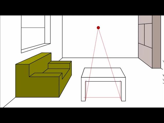 Prospettiva Centrale 5 Arredare Una Stanza Room Furniture In Perspective Youtube