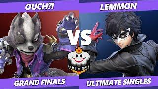 GOML NA Open CA West GRAND FINALS - Ouch?! (Wolf) Vs. Lemmon (Joker) Ultimate SSBU