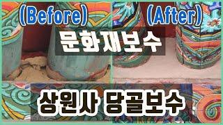 상원사 당골보수 : 문화재보수공사 중 다람쥐 다큐멘터리 thumbnail