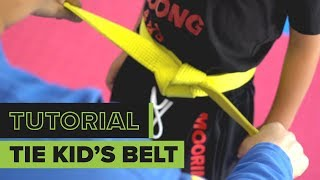 How to Tie a Kid's Martial Arts Belt