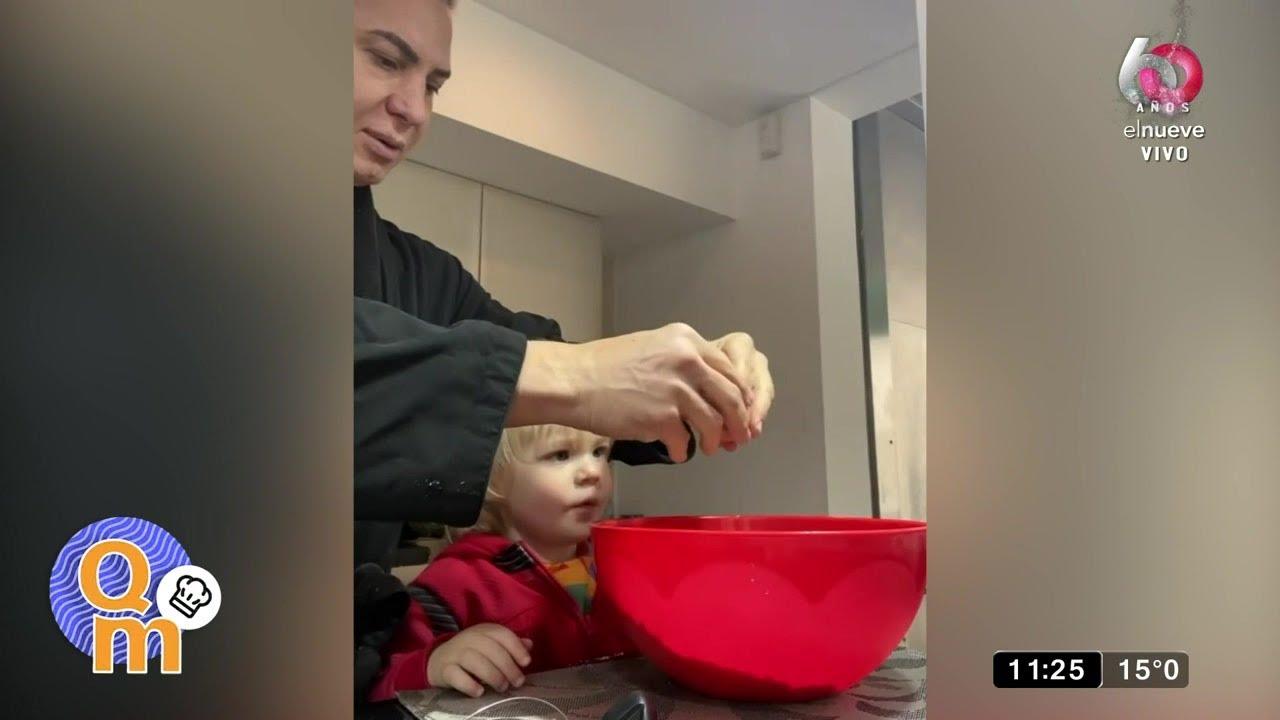 Flavio Mendoza cocinó junto a su hijo Dionisio