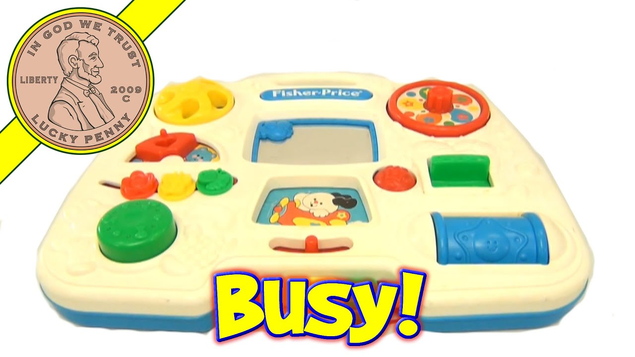 1993 Fisher Price Activity Center Crib Playpen Busy Box Toy Youtube