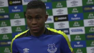 Watch Ademola Lookman's first interview as an Everton Player