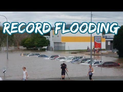 CITY FLOODS AT RECORD LEVELS - Logan River Floods 2017