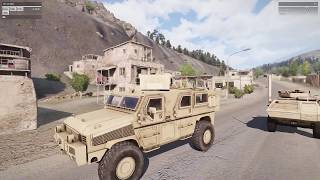 Armed Convoy Ambush _ In Realistic Shooter Game Arma 3 RHS Mod(1080P_HD)