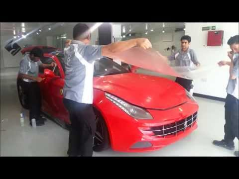Transparency qatar ferrari FF paint protection,inside and paint protection film Nano fusion