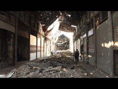 In Syria's Homs, war-ravaged ancient market slowly reemerges