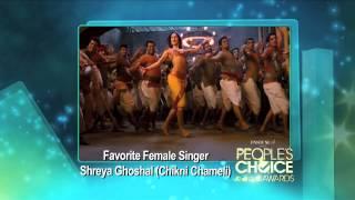 Shreya Ghoshal wins Favorite Female Singer at People's Choice Awards 2012 [HD]
