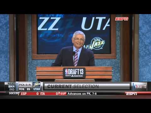 "David Stern ""The boo is an American sign for respect"" 2013 NBA Draft"