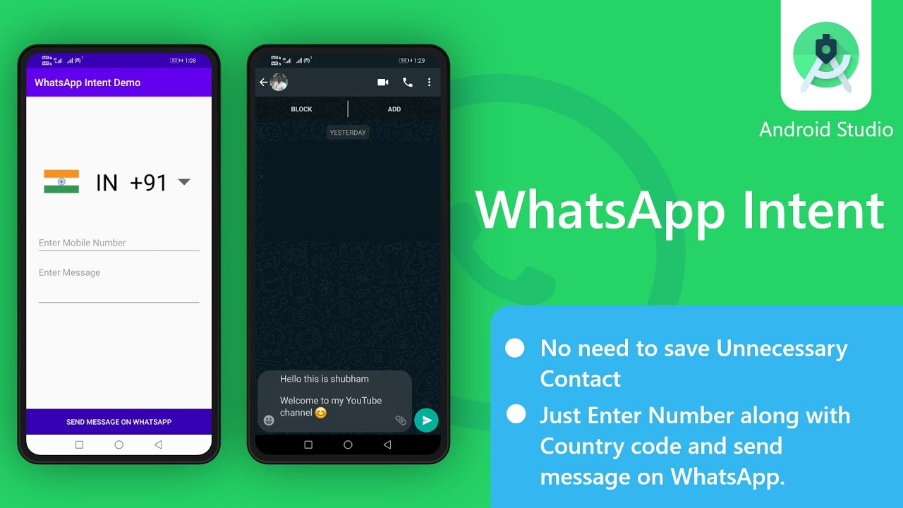 WhatsApp integration in android - Send message from app