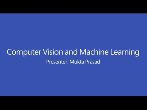 Computer Vision and Machine Learning