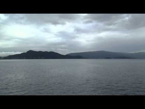 Crossing the fjord by ferry(Alesund,Norway).AVI