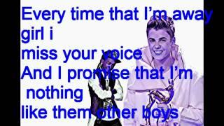 Justin Bieber ft. Jaden Smith - Thinking about you - w/ lyrics