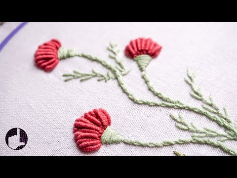 Hand Embroidery | Flower Designs for Dresses | HandiWorks #56