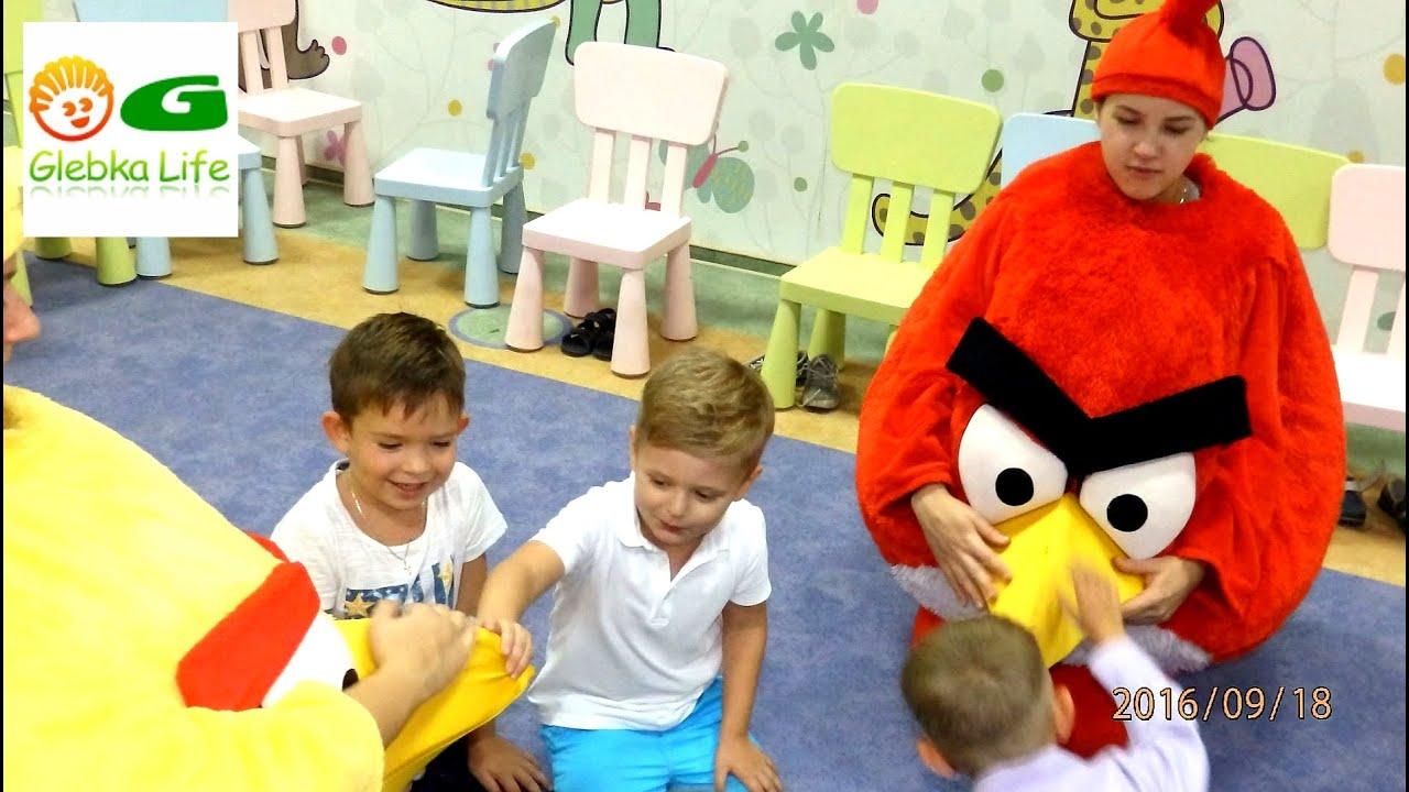 Angry Birds. Глеб на дне рождения у Кирилла.
