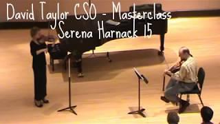 David Taylor CSO Masterclass - Serena Harnack 15 violin