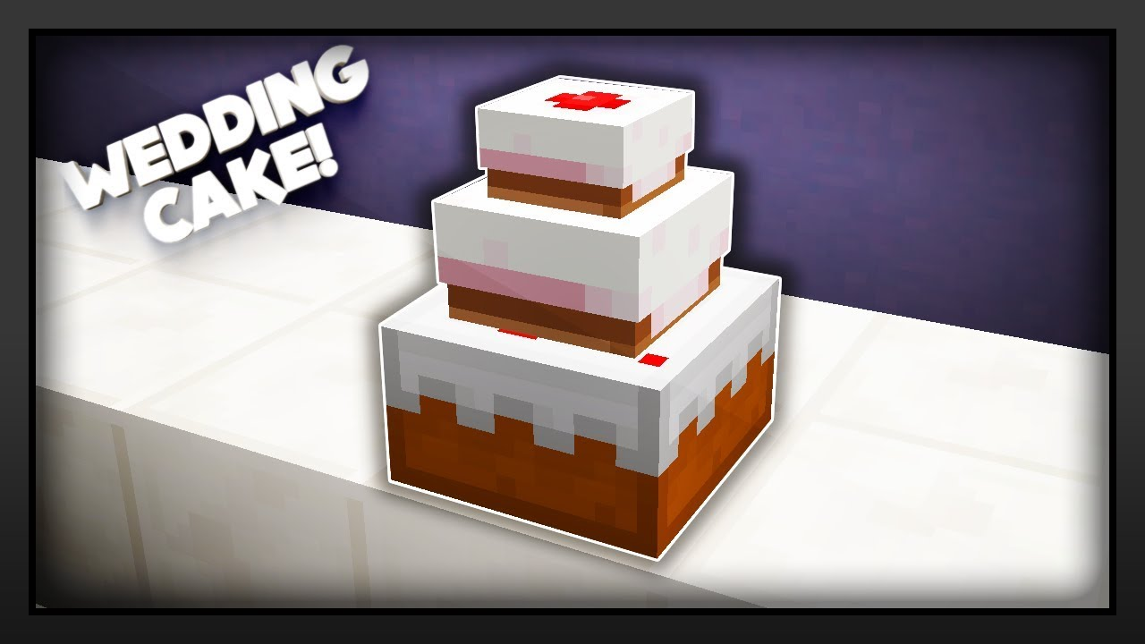 Minecraft How To Make A Wedding Cake Youtube