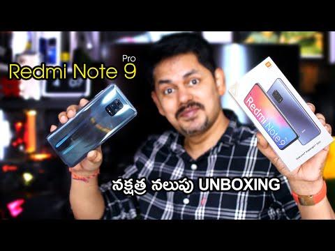 Redmi Note 9 Pro ⭐Interstellar Black Unboxing and initial Impressions in Telugu