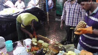 Healthy Pineapple Slicing in Kolkata Street | Street Food Online
