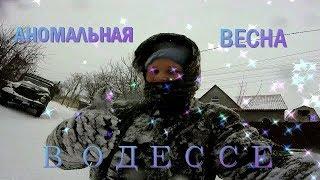 Аномальная весна в Одессе/ ЗАВАЛИЛО СНЕГОМ/ МОРОЗЯКА /