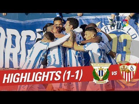 Highlights CD Leganés vs Sevilla FC (1-1)