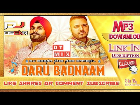 !!-daru-badnaam-kardi-!!-trending-song-2018-!!-dt-remix-dj-oscar-and-asb-official-!!