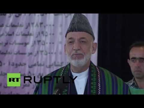 Afghanistan: President Hamid Karzai casts his vote in runoff polls