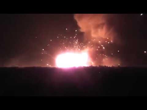 Ukraina ogromny pożar składu amunicji