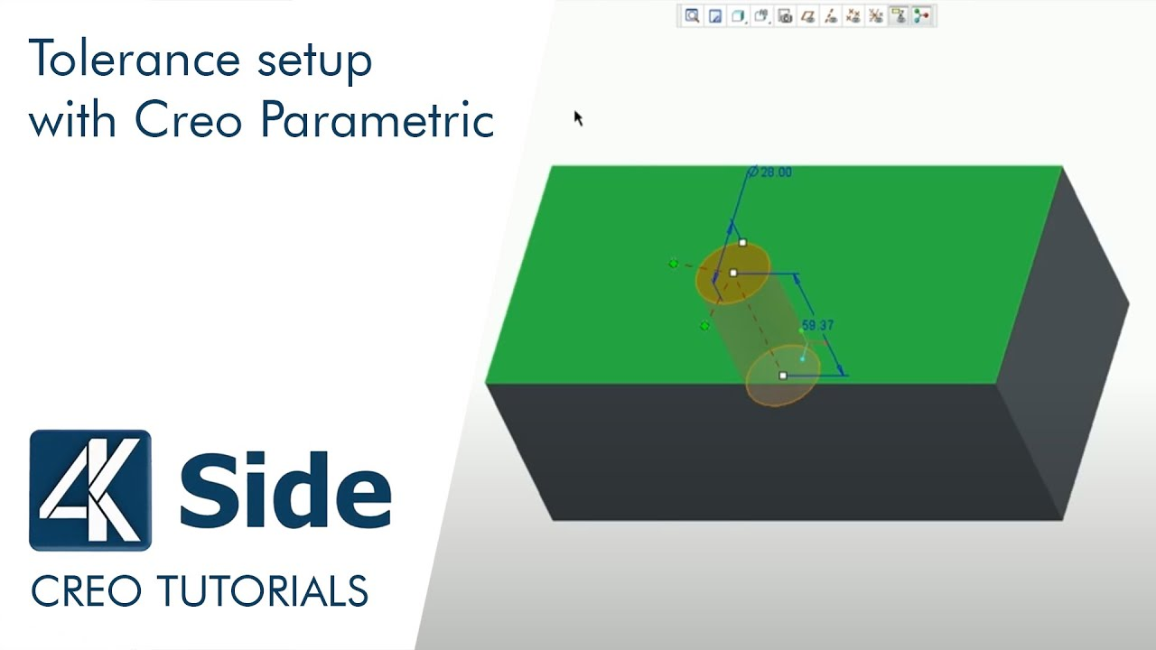 Creo Tutorial: Tolerance setup with Creo Parametric