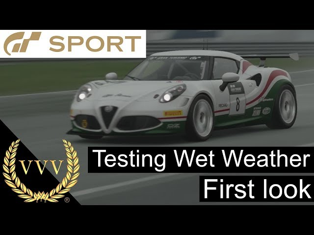 GT Sport - Wet Weather First Look
