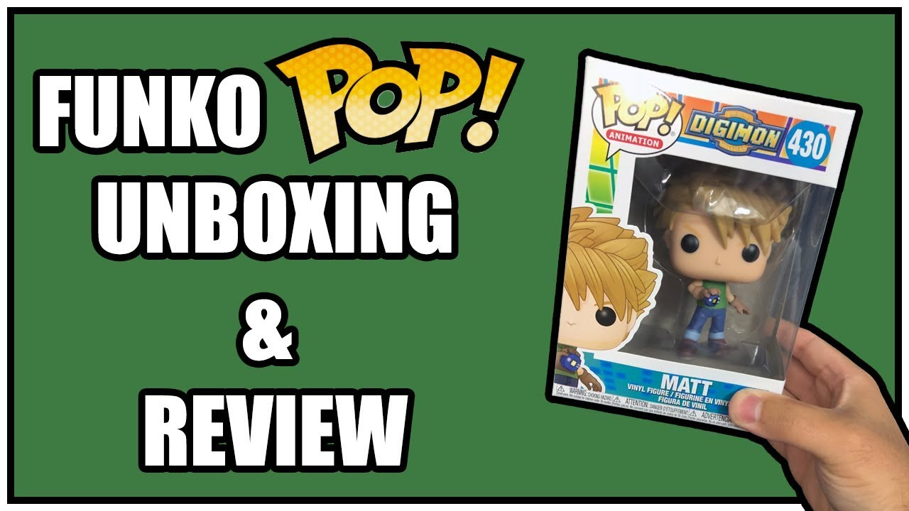 ab1a86d01af Matt Digimon Funko Pop Unboxing   Review - YouTube