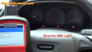 Volvo Engine, ABS & SRS Airbag light Cleared Autel MD702