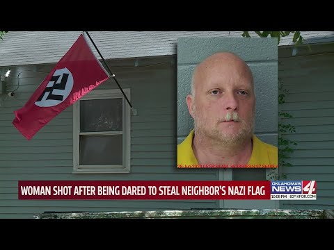 Woman shot multiple times while trying to steal Nazi flag from Oklahoma man's yard