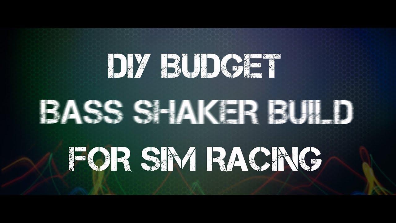 DIY budget bass shaker build for sim racing, direct drive upgrade?