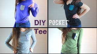 DIY Pocket Tees: Spice Up Your Plain Shirts! (No-Sew) Thumbnail