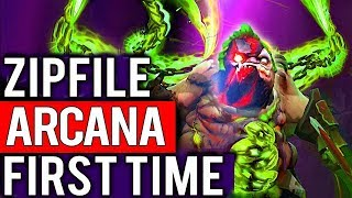 Zipfile + Green Arcana First Time - Best Hooks in Dota 2