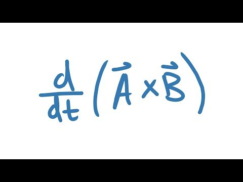 Derivative of the Cross Product Derivation