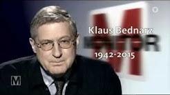 Klaus Bednarz - Ein Nachruf (1942-2015)