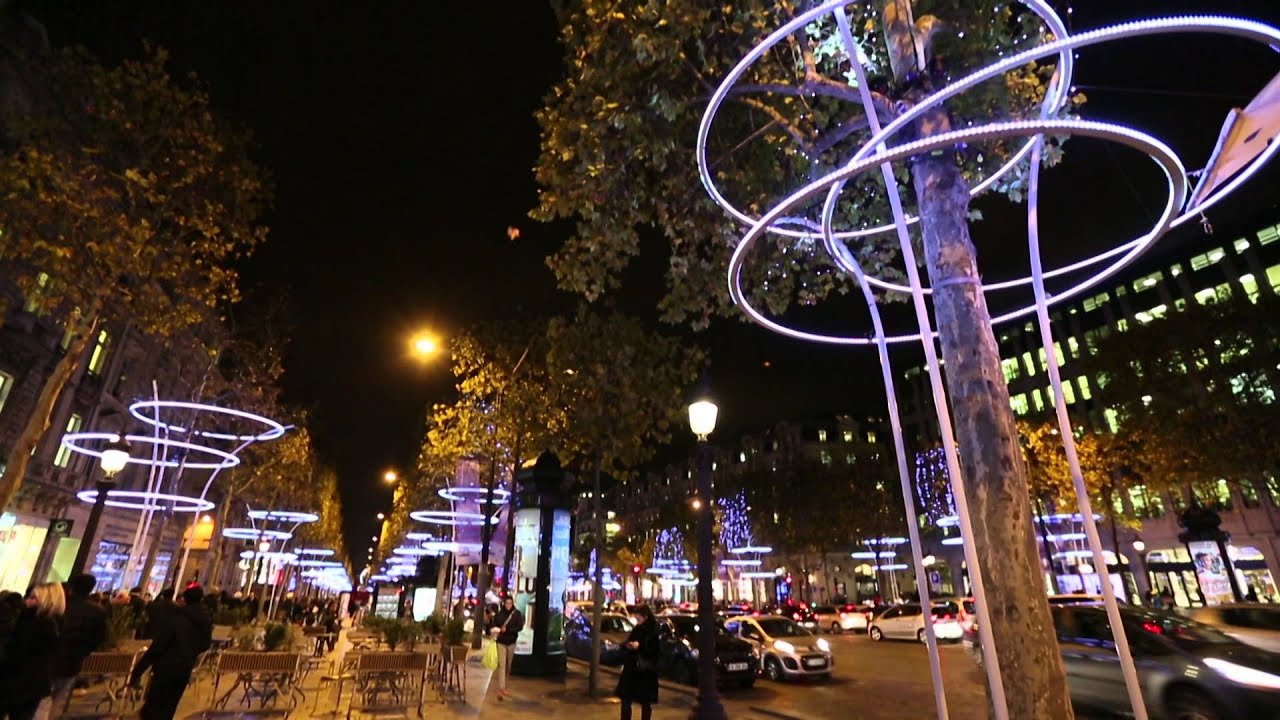 Champs elys es paris 2013 2014 christmas illumination youtube - Illumination paris 2014 ...
