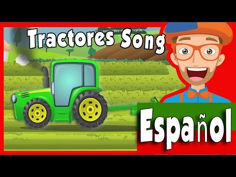 Tractores para Ni�os Blippi | Canci�n del Tractor | Blippi Espa�ol