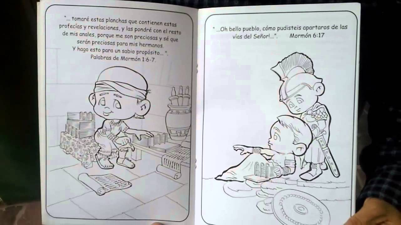 Dibujos Para Colorear De Libro Y Libreta: Cuadernos Para Colorear: El Libro De Mormón