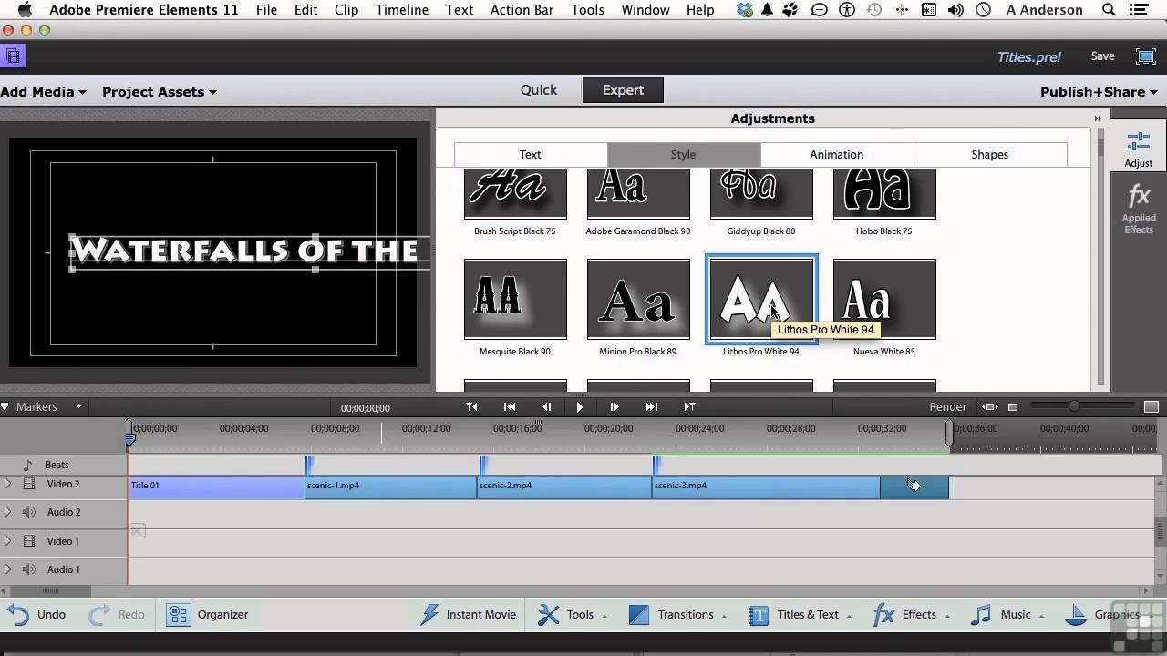 Adobe Premiere Elements 11 Tutorial | Working With Basic ...